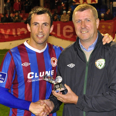 KEITH FAHEY WITH MOTM AWARD