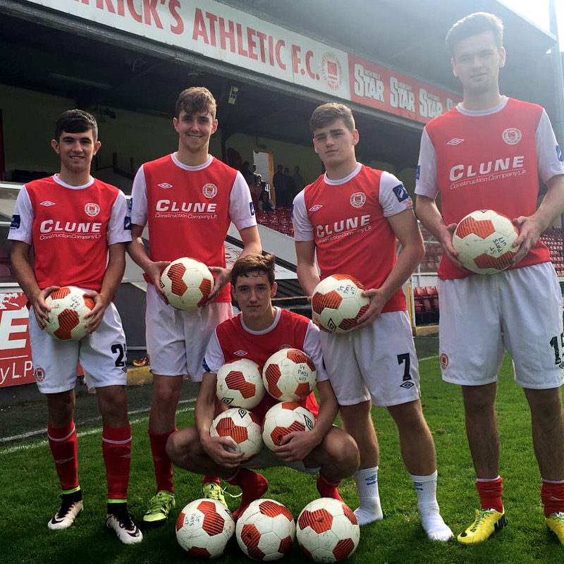 THE SAINTS GOALSCORERS AFTER THE 11-2 WIN AGAINST DUNDALK