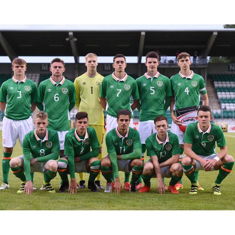 JJ LUNNEY IN THE STARTING XI AGAINST AUSTRIA IN TALLAGHT