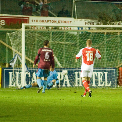QUIGLEY NETS THIRD GOAL AGAINST DROGHEDA