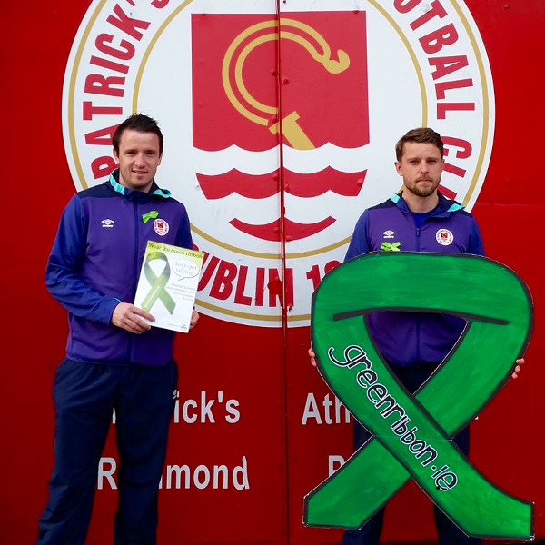 ST PAT'S ARE SUPPORTING THE GREEN RIBBON CAMPAIGN