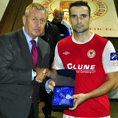 CHRISTY FAGAN WITH MOTM AWARD