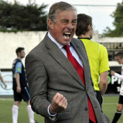 PETE MAHON CELEBRATES GOAL