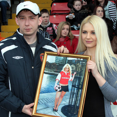 SPECIAL SAINTS' PRESENTATION TO CLAIRE TULLY