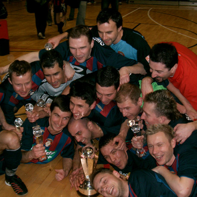 SAINTS CELEBRATE FUTSAL WIN