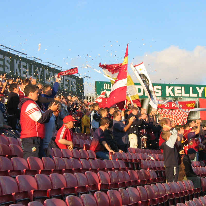 SUPPORTERS AT DALYMOUNT PARK