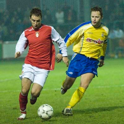 SEAN O'CONNOR IN ACTION AGAINST DUNGANNON