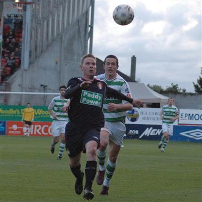 STEPHEN BRENNAN IN ACTION AGAINST ROVERS