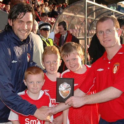 MAGUIRE ACCEPT LEISUREPLEX PLAYER OF THE MONTH AWARD